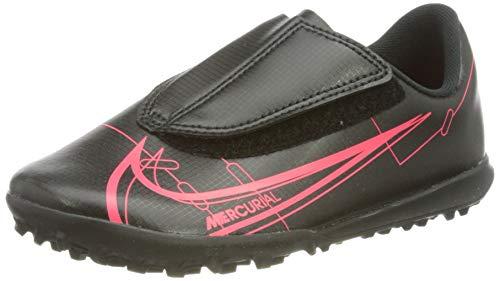 Nike Jr Vapor 14 Club TF PS (V), Football Shoe, Black/Black-Cyber-Siren Red, 31 EU