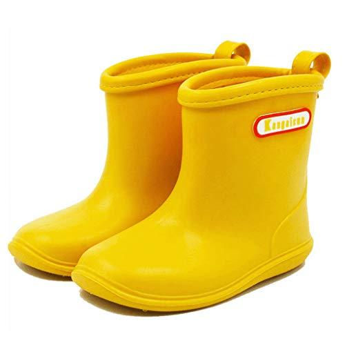 BAIYOU bebé de goma para niños Botas de lluvia impermeable botas de agua Wellington para 2 – 6 años
